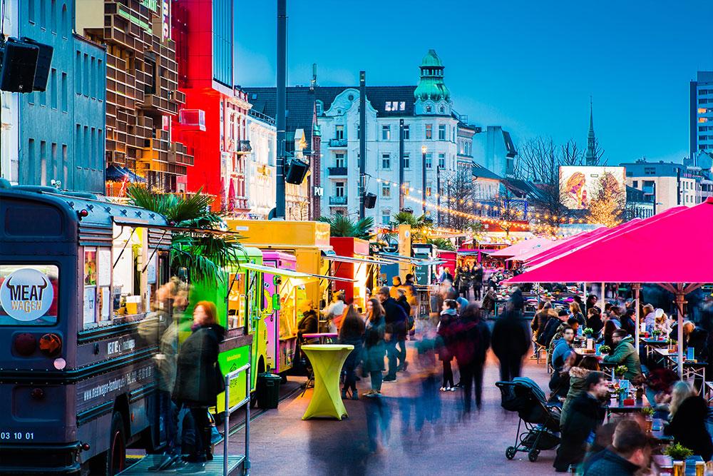 Hamburg Stadtführungen Reeperbahn Spielbudenplatz Nachtmarkt